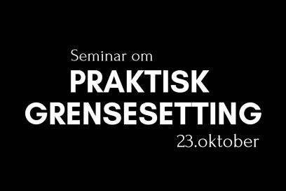 Seminar 23.10.      kl 14 -17.30